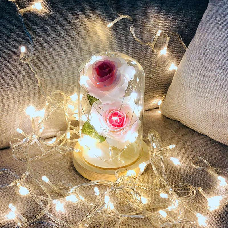 2X-Led-Rose-Battery-Powered-Flower-String-Light-Desk-Lamp-Romantic-Valentin-C4C5 thumbnail 16