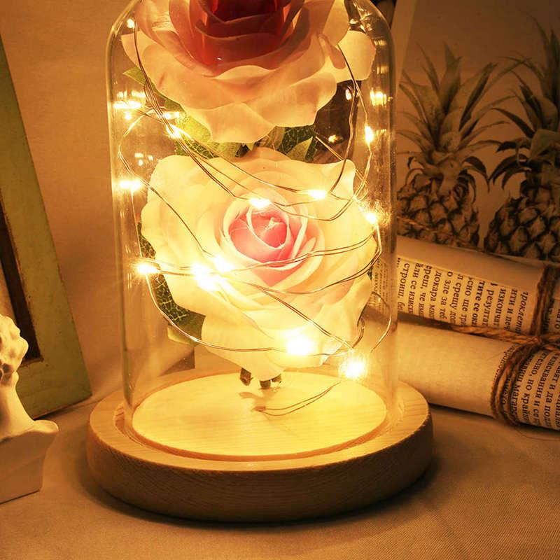 2X-Led-Rose-Battery-Powered-Flower-String-Light-Desk-Lamp-Romantic-Valentin-C4C5 thumbnail 17