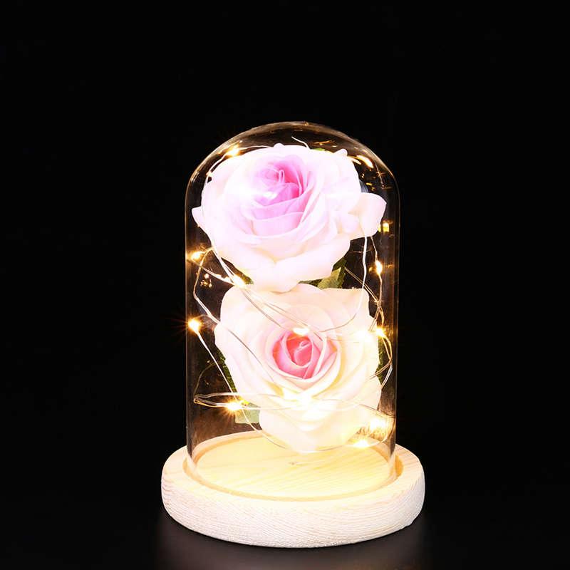 2X-Led-Rose-Battery-Powered-Flower-String-Light-Desk-Lamp-Romantic-Valentin-C4C5 thumbnail 18