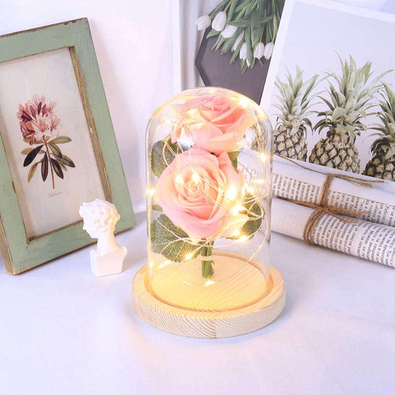 2X-Led-Rose-Battery-Powered-Flower-String-Light-Desk-Lamp-Romantic-Valentin-C4C5 thumbnail 23