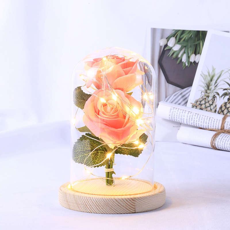 2X-Led-Rose-Battery-Powered-Flower-String-Light-Desk-Lamp-Romantic-Valentin-C4C5 thumbnail 24