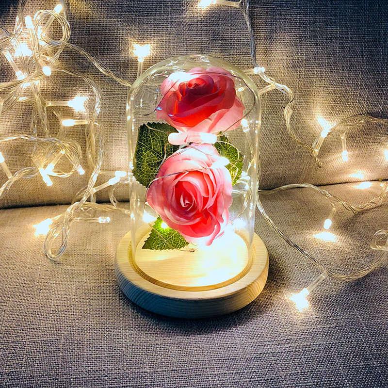 2X-Led-Rose-Battery-Powered-Flower-String-Light-Desk-Lamp-Romantic-Valentin-C4C5 thumbnail 25