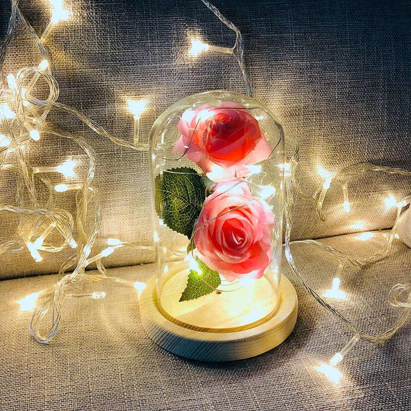 2X-Led-Rose-Battery-Powered-Flower-String-Light-Desk-Lamp-Romantic-Valentin-C4C5 thumbnail 26