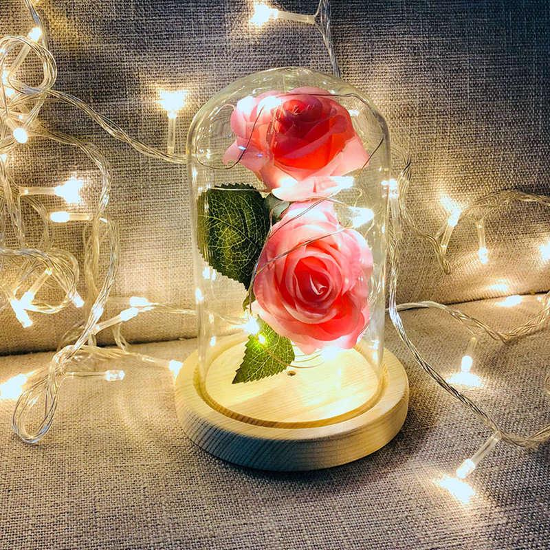 2X-Led-Rose-Battery-Powered-Flower-String-Light-Desk-Lamp-Romantic-Valentin-C4C5 thumbnail 27