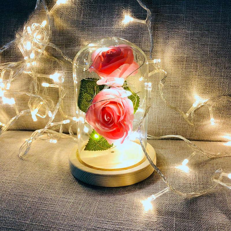 2X-Led-Rose-Battery-Powered-Flower-String-Light-Desk-Lamp-Romantic-Valentin-C4C5 thumbnail 28
