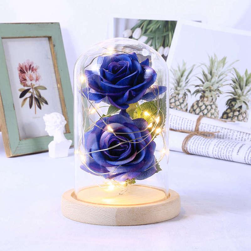 2X-Led-Rose-Battery-Powered-Flower-String-Light-Desk-Lamp-Romantic-Valentin-C4C5 thumbnail 32