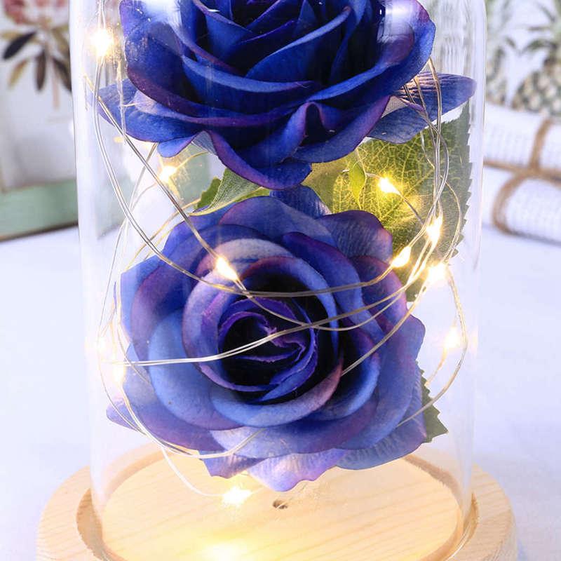 2X-Led-Rose-Battery-Powered-Flower-String-Light-Desk-Lamp-Romantic-Valentin-C4C5 thumbnail 34