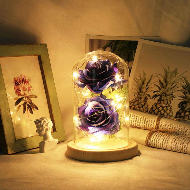 2X-Led-Rose-Battery-Powered-Flower-String-Light-Desk-Lamp-Romantic-Valentin-C4C5 thumbnail 35