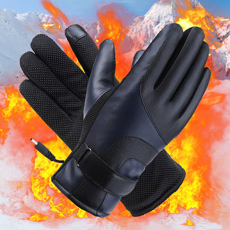 Winter-Heated-Gloves-Warmer-Electric-Thermal-Gloves-Cycling-Motorcycle-Glov-N5L4 thumbnail 3