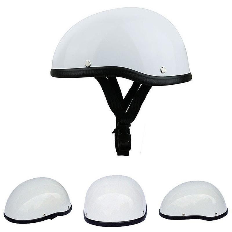 Skull Cap Motorcycle Helmet Vintage Half Face Helmet Retro German Style cho I2Y8