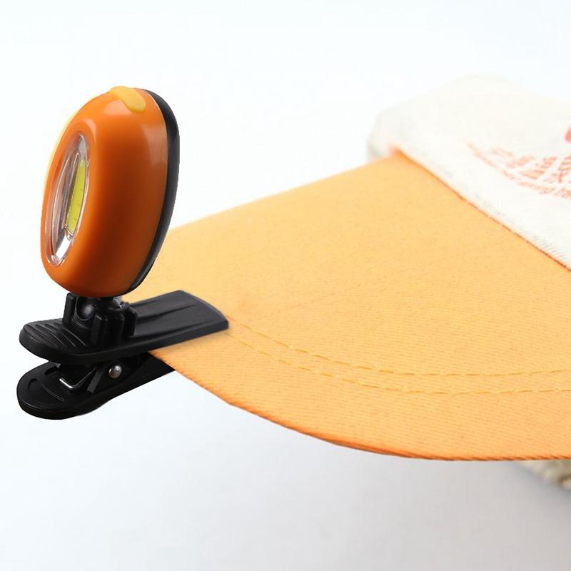 2X-Mini-Cob-Chapeau-Pince-Lumiere-Exterieure-Impermeable-Lumiere-de-Nuit-Pe-Y3D9 miniature 8