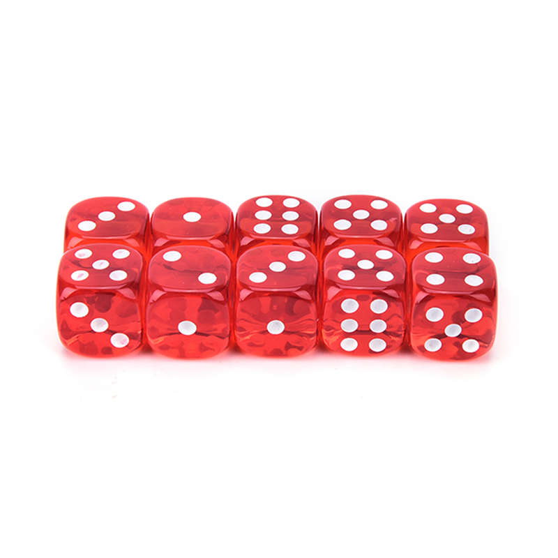 2X-100Pcs-Bag-14Mm-Colorful-Dice-Transparent-Dices-For-Game-Bar-Playing-Gam-O7V8 thumbnail 10