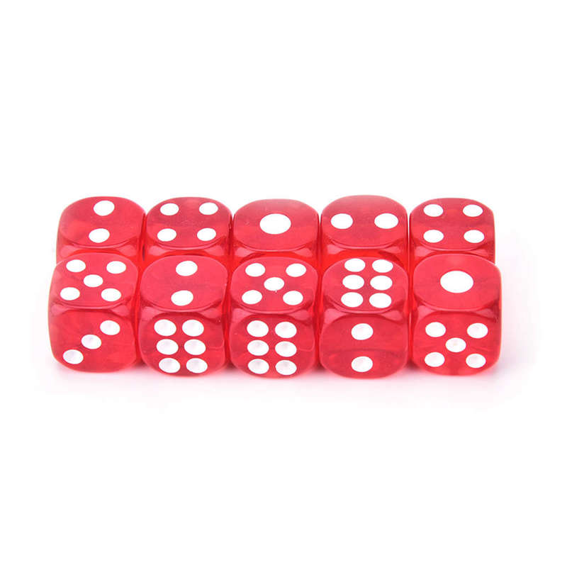 2X-100Pcs-Bag-14Mm-Colorful-Dice-Transparent-Dices-For-Game-Bar-Playing-Gam-O7V8 thumbnail 11