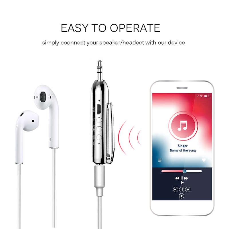 Jack-Receiver-Adapter-Double-Output-Bluetooth-Handsfree-Car-Kit-Aux-Bluetoo-Q4F1 miniatuur 5