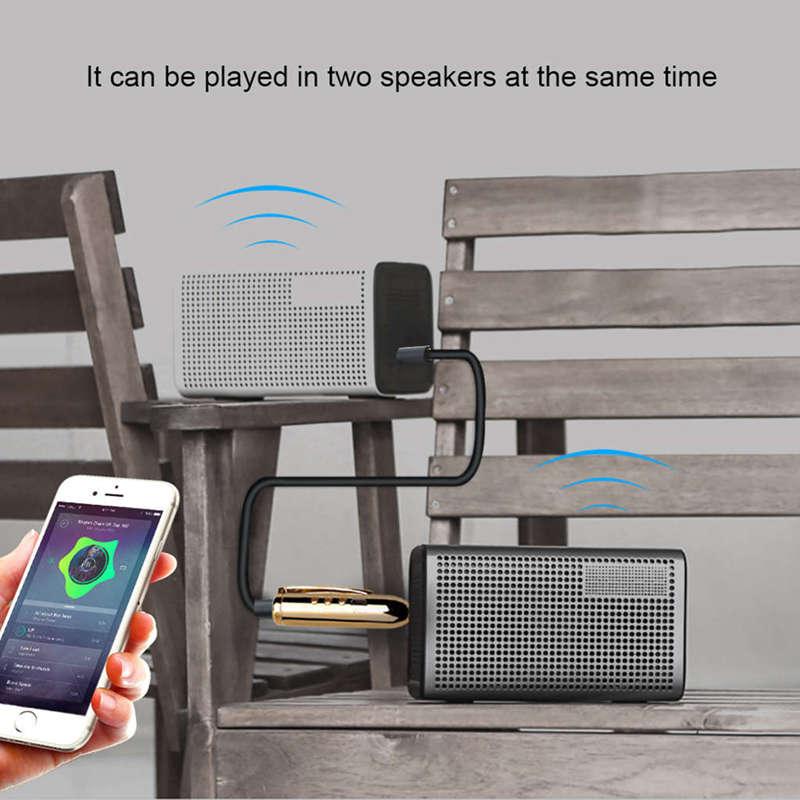 Jack-Receiver-Adapter-Double-Output-Bluetooth-Handsfree-Car-Kit-Aux-Bluetoo-Q4F1 miniatuur 7