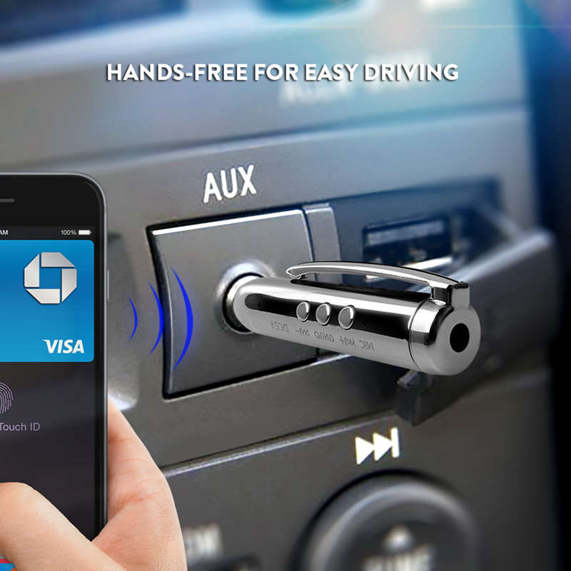 Jack-Receiver-Adapter-Double-Output-Bluetooth-Handsfree-Car-Kit-Aux-Bluetoo-Q4F1 miniatuur 8