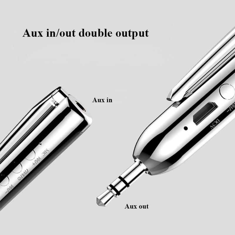 Jack-Receiver-Adapter-Double-Output-Bluetooth-Handsfree-Car-Kit-Aux-Bluetoo-Q4F1 miniatuur 14