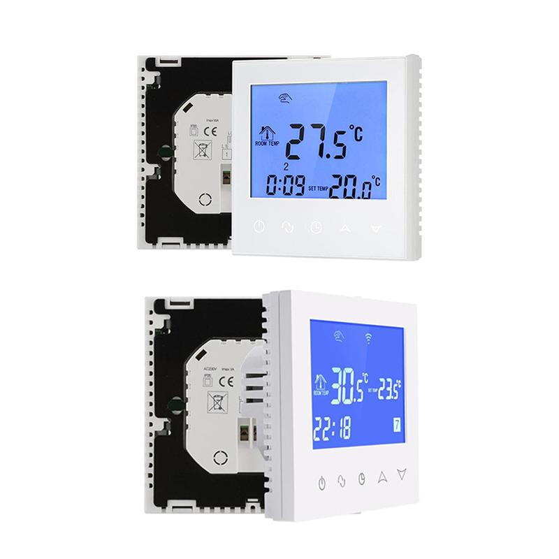2X(Lcd Press Screen Termostato Digitale Senza Fili Termostato Per Impianto M6E4