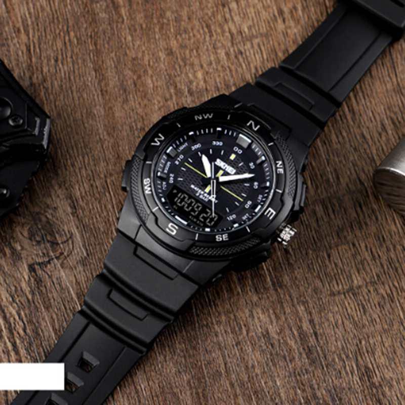 SKMEI-Men-039-s-Sports-Watch-Led-Digital-50M-Waterproof-Casual-Dual-Time-Displa-I1J9 thumbnail 3