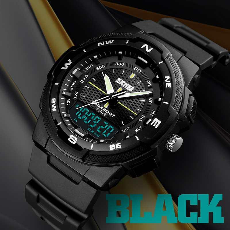 SKMEI-Men-039-s-Sports-Watch-Led-Digital-50M-Waterproof-Casual-Dual-Time-Displa-I1J9 thumbnail 6