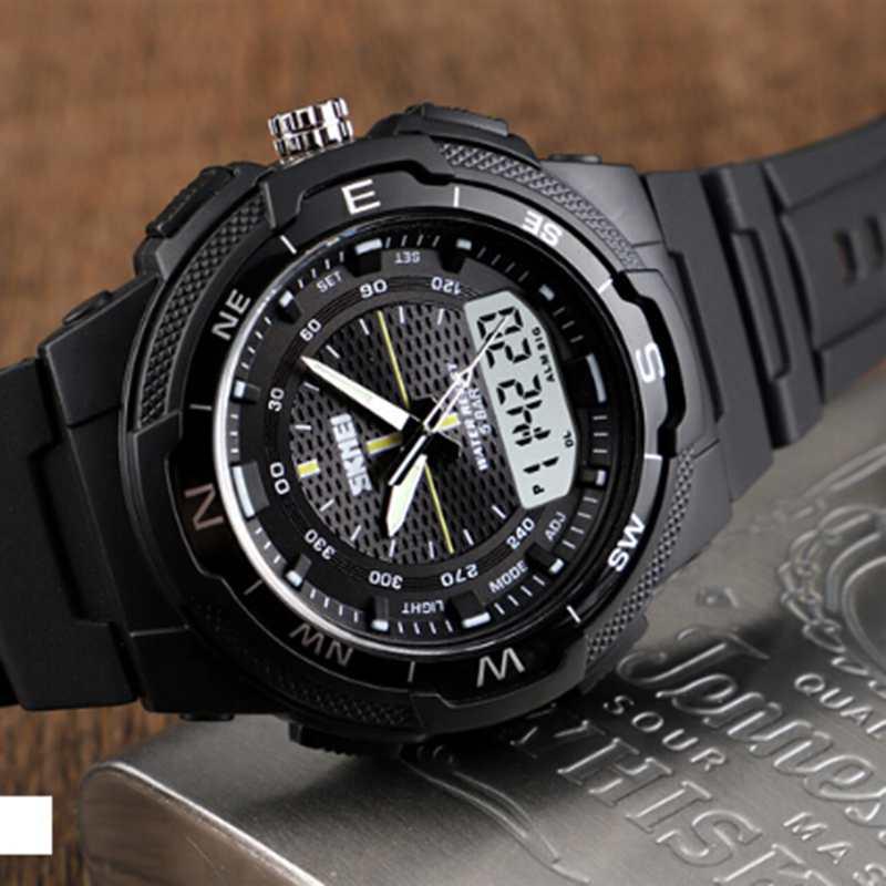SKMEI-Men-039-s-Sports-Watch-Led-Digital-50M-Waterproof-Casual-Dual-Time-Displa-I1J9 thumbnail 9