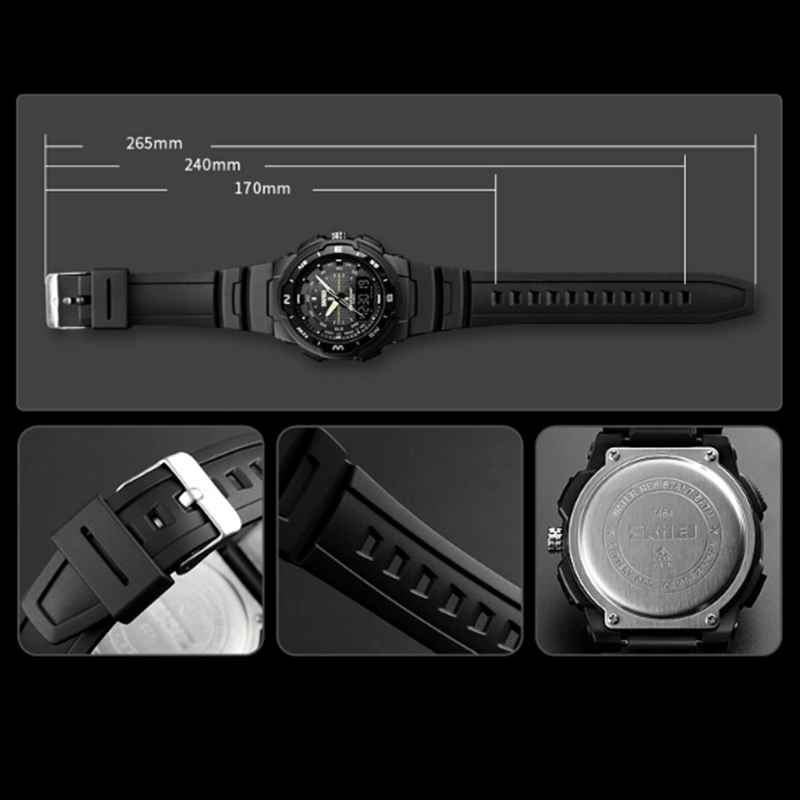SKMEI-Men-039-s-Sports-Watch-Led-Digital-50M-Waterproof-Casual-Dual-Time-Displa-I1J9 thumbnail 11