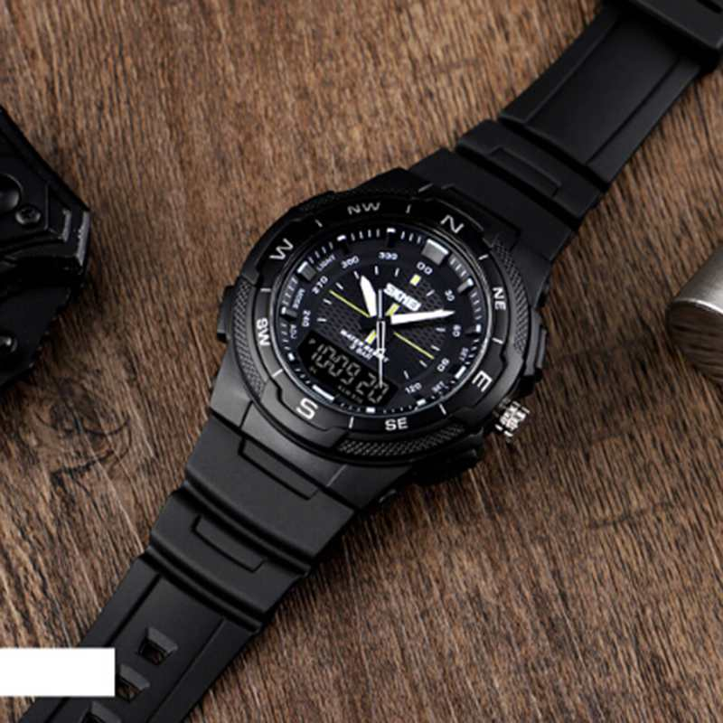 SKMEI-Men-039-s-Sports-Watch-Led-Digital-50M-Waterproof-Casual-Dual-Time-Displa-I1J9 thumbnail 13
