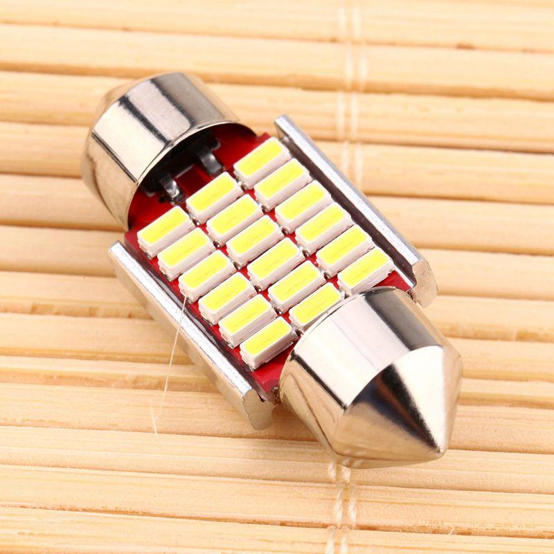 2-Unids-C5W-C10W-3014-18Smd-Adorno-Led-Canbus-Coche-Inteiror-Bombilla-Matric-9J1 miniatura 4