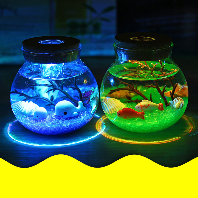 2X-Night-Light-Creative-Beautiful-Aquarium-Diy-Light-Durable-Home-Decoratio-P2D7 thumbnail 5