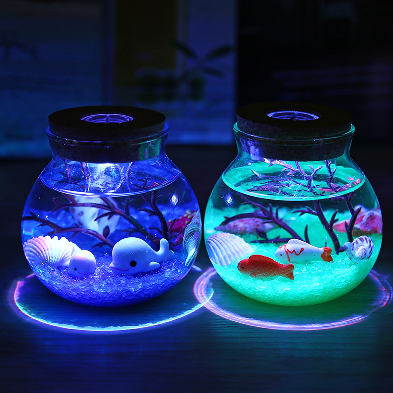 2X-Night-Light-Creative-Beautiful-Aquarium-Diy-Light-Durable-Home-Decoratio-P2D7 thumbnail 6