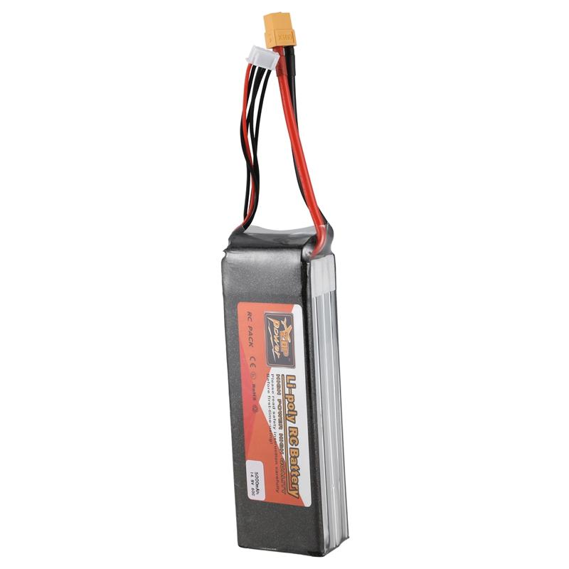 2X(ZOP POWER Batterie Lipo 14.8V 5000Mah 4S 60C Connecteur De Prise XT60 ReM8X8)
