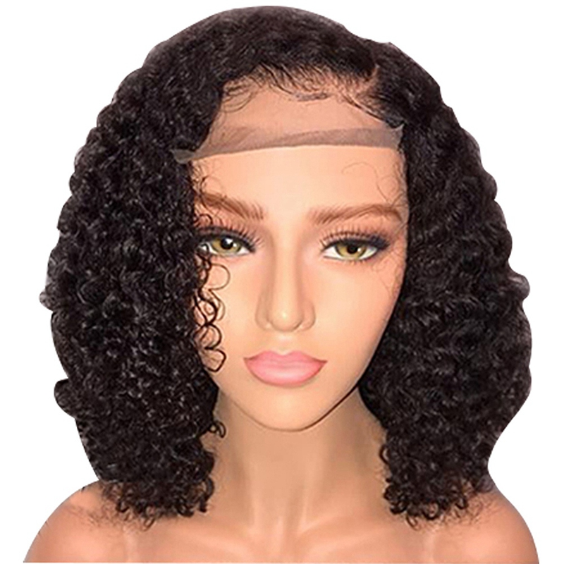 Short-Lace-Front-Human-Hair-Wigs-Pre-Plucked-With-Baby-Hair-Curly-Brazilian-R-FR