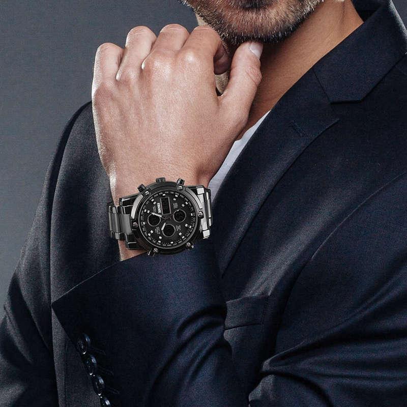 1X-Skmei-Herren-Quarz-Uhr-Luxus-Mode-Sport-Uhr-Wasserdichte-Edelstahl-Armba-I3H6 Indexbild 4