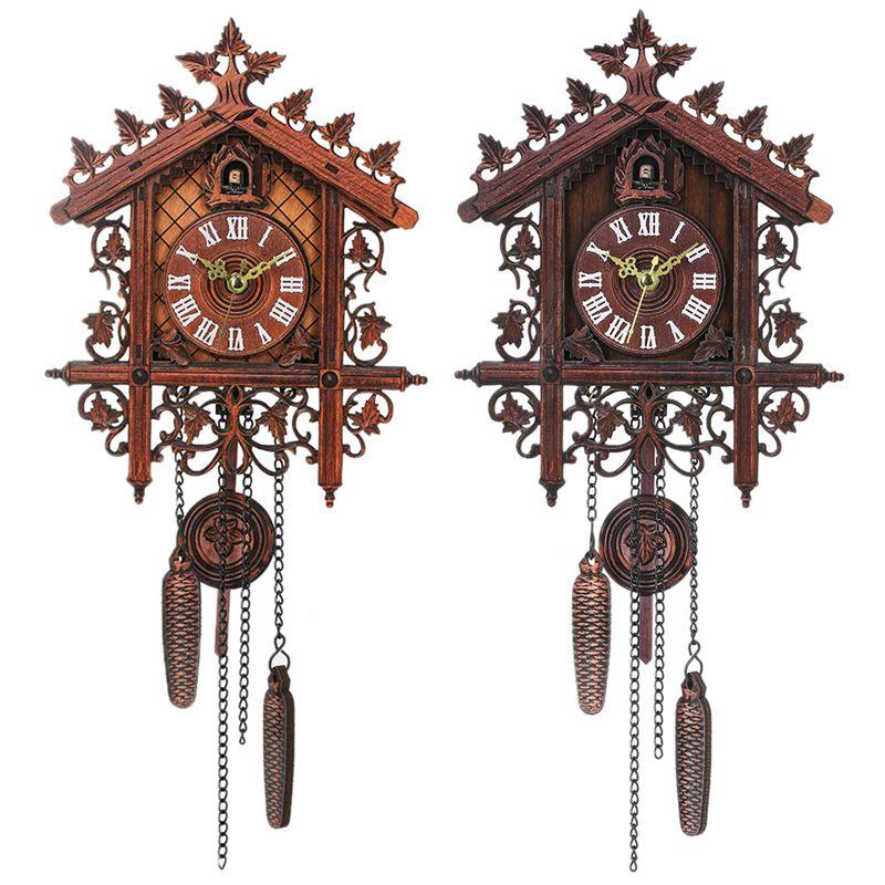 Reloj-De-Pared-De-Madera-De-Cuco-De-La-Vendimia-Que-Cuelga-El-Reloj-De-La-A-W7M1 miniatura 4