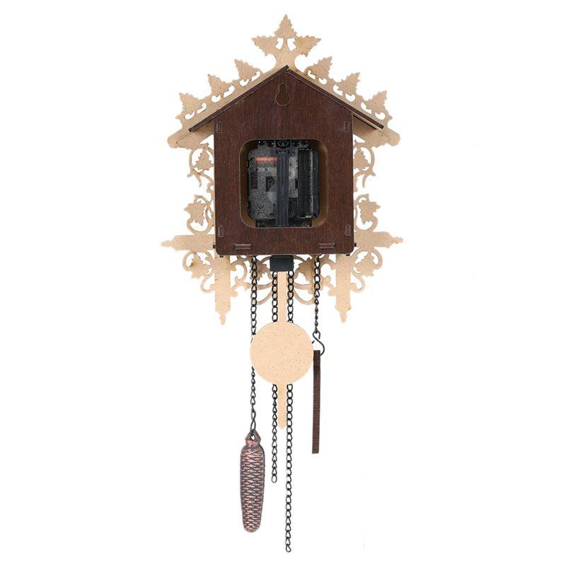 Reloj-De-Pared-De-Madera-De-Cuco-De-La-Vendimia-Que-Cuelga-El-Reloj-De-La-A-W7M1 miniatura 9