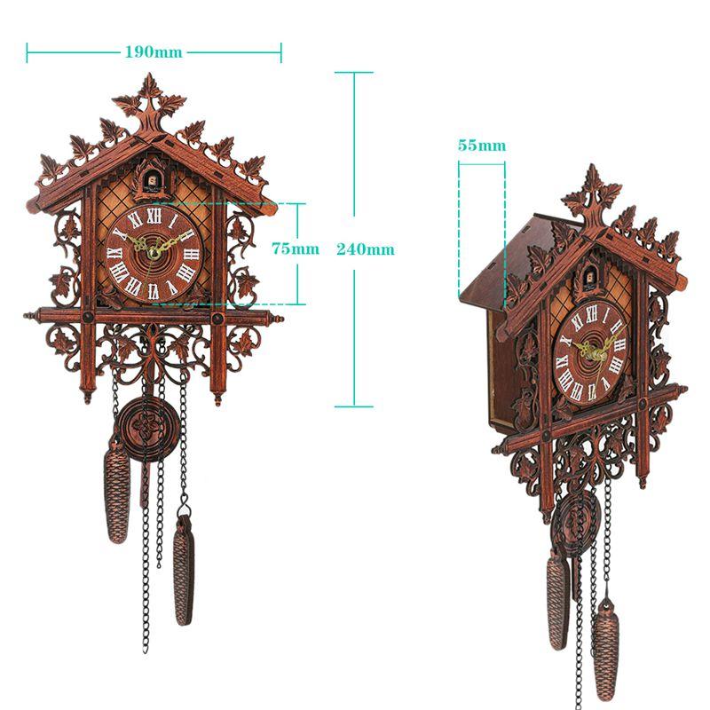 Reloj-De-Pared-De-Madera-De-Cuco-De-La-Vendimia-Que-Cuelga-El-Reloj-De-La-A-W7M1 miniatura 12