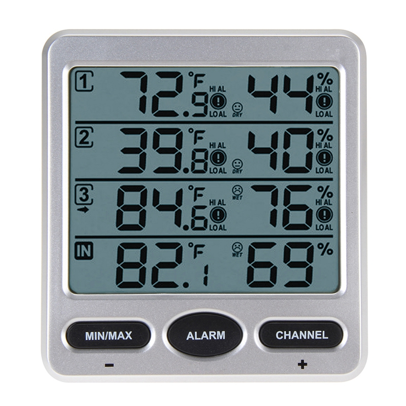 Ambient Weather Wireless Lcd Digital Thermometer Humidity Indoor/Outdoor 8  X1V3