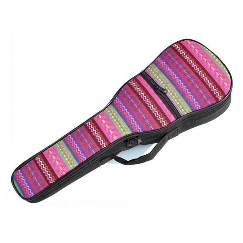 1X-Double-Strap-Hand-Folk-Canvas-Ukulele-Carry-Bag-Cotton-Padded-Case-for-U4P5 thumbnail 3