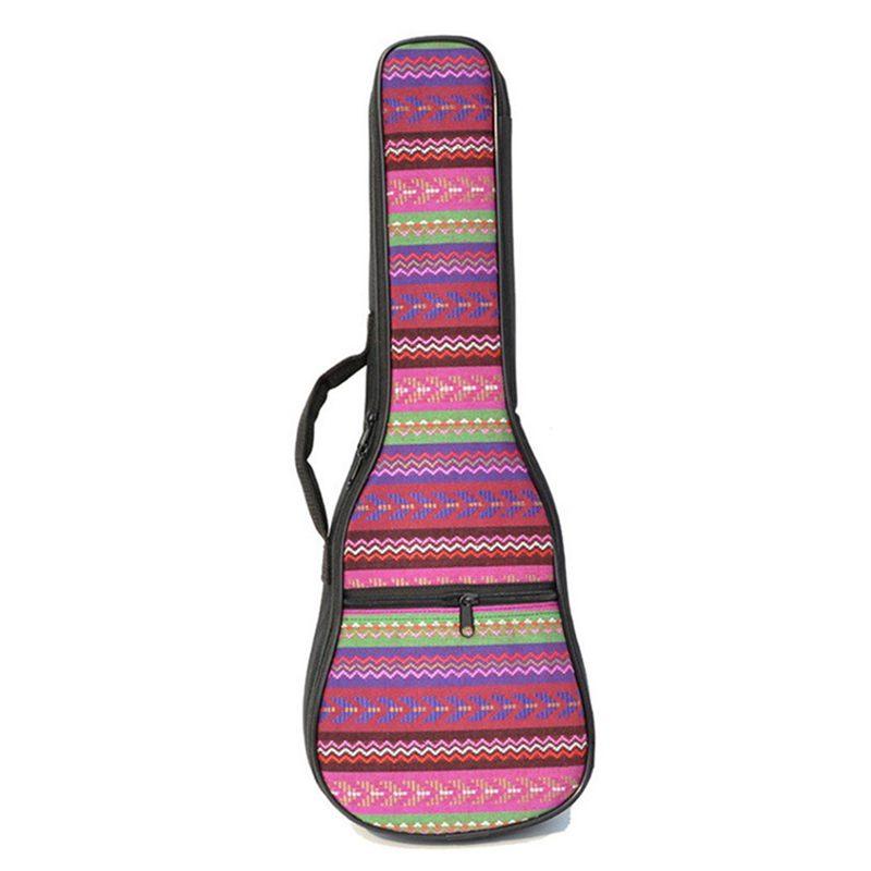 1X-Double-Strap-Hand-Folk-Canvas-Ukulele-Carry-Bag-Cotton-Padded-Case-for-U4P5 thumbnail 4