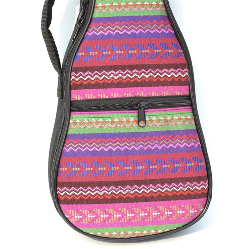 1X-Double-Strap-Hand-Folk-Canvas-Ukulele-Carry-Bag-Cotton-Padded-Case-for-U4P5 thumbnail 7