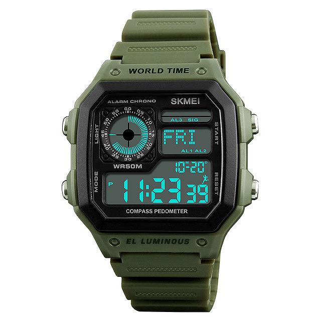 5X(Skmei Digital Sports orologio Da hombres Contapassi Contapassi Pedometro 50 T6O8