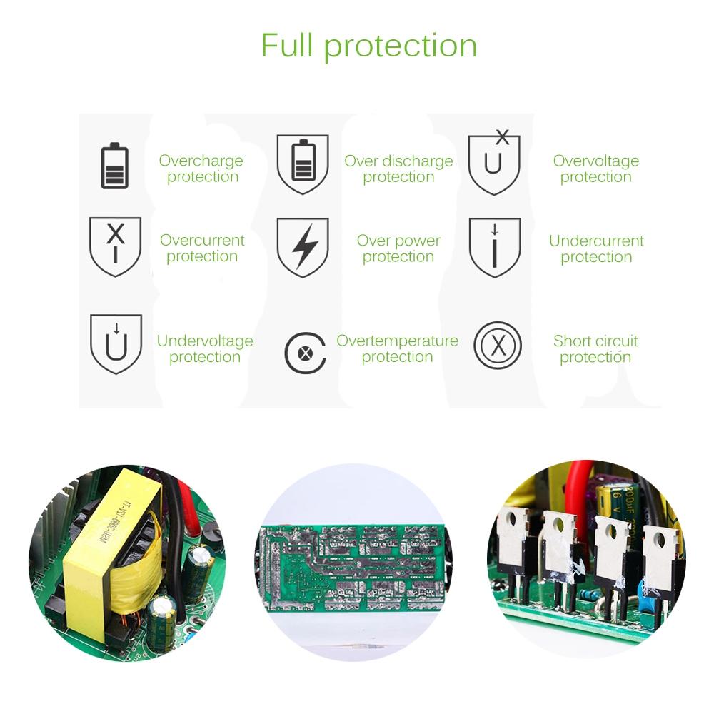 18V20W-Panel-Solar-12V-24V-Controlador-1500W-Kit-De-Inversor-Ac220V-Adec-A2M8 miniatura 7