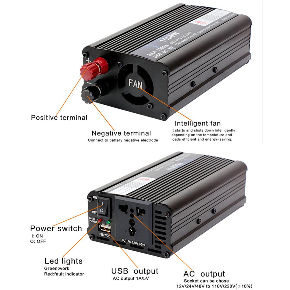 18V20W-Panel-Solar-12V-24V-Controlador-1500W-Kit-De-Inversor-Ac220V-Adec-A2M8 miniatura 8