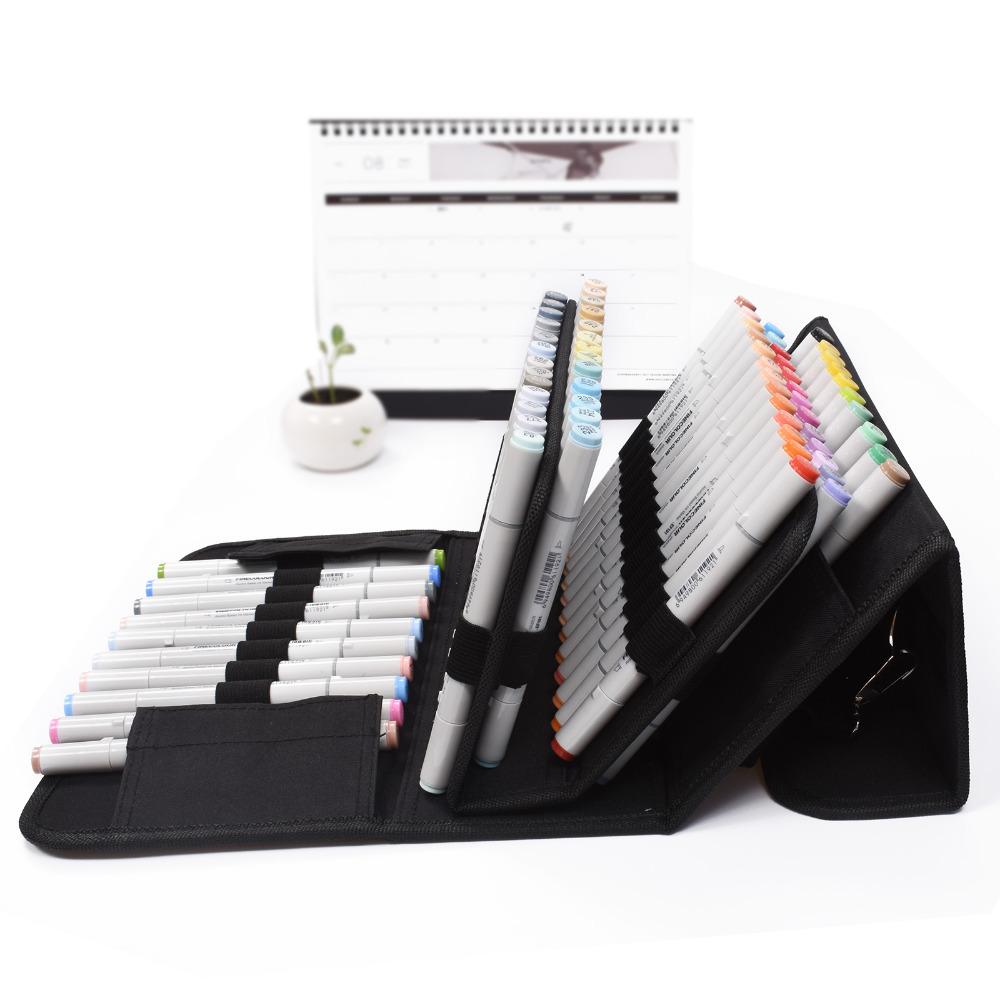 2X(80 Slots Große Kapazität Falten Marker Stift Stift Stift Fall Kunst Markierungen StiJ6U6) | Ausreichende Versorgung  62849c