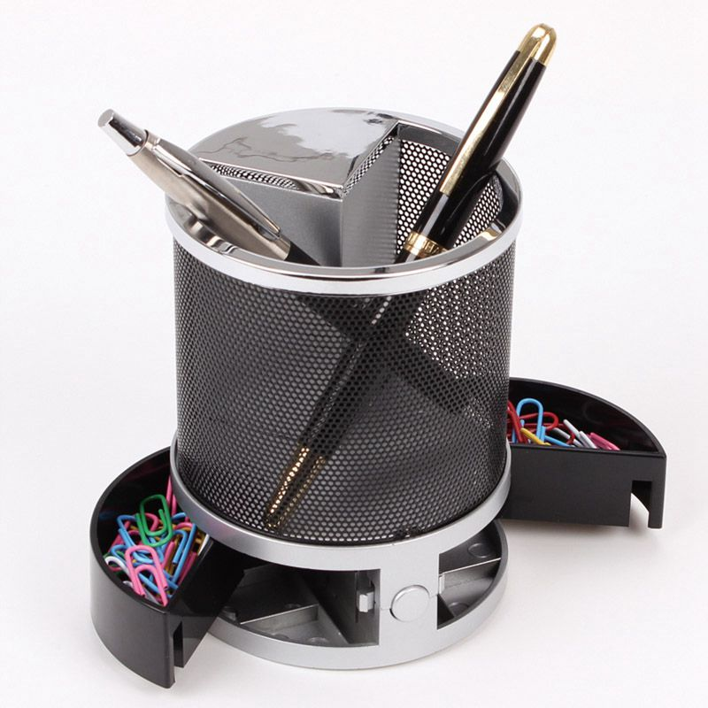 Mesh-Pen-Pencil-Holder-With-Digital-Lcd-Office-Desk-Clock-With-Time-Temp-Ca-L2H4 miniatuur 9