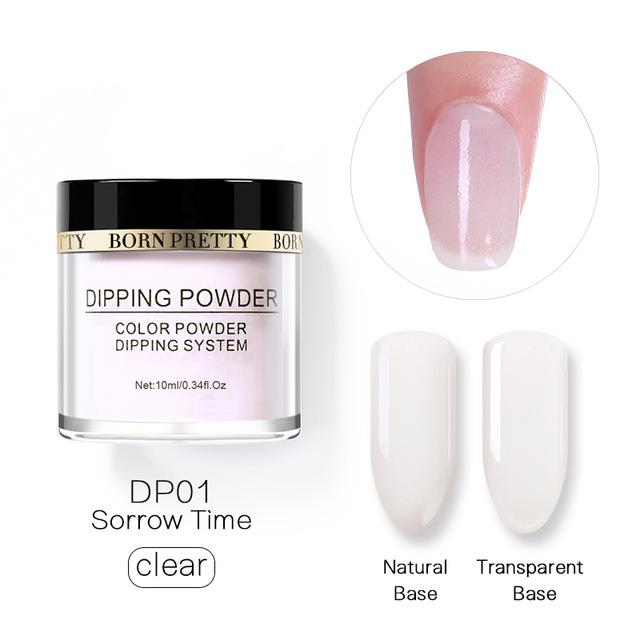 2X-BORN-PRETTY-Dipping-Powder-Gradient-French-Nail-Natural-Color-Holographi-V2D3 thumbnail 3