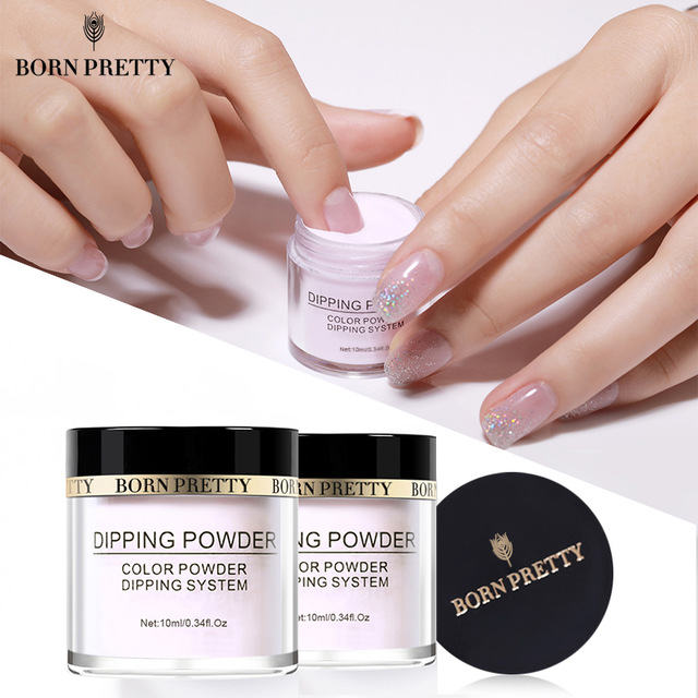 2X-BORN-PRETTY-Dipping-Powder-Gradient-French-Nail-Natural-Color-Holographi-V2D3 thumbnail 4