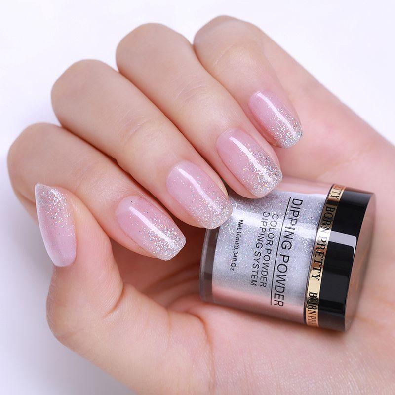 2X-BORN-PRETTY-Dipping-Powder-Gradient-French-Nail-Natural-Color-Holographi-V2D3 thumbnail 5