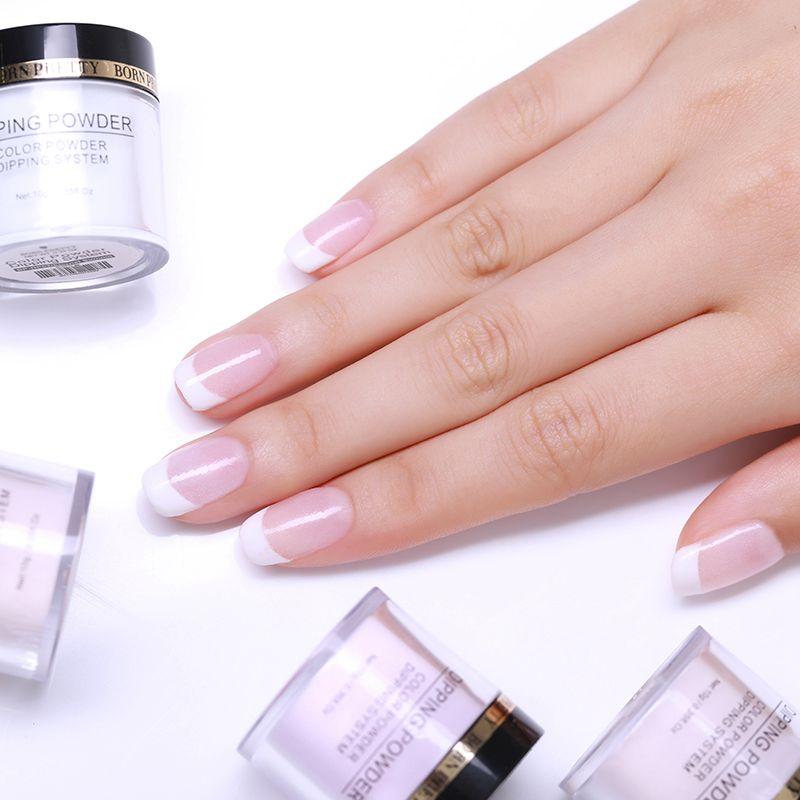 2X-BORN-PRETTY-Dipping-Powder-Gradient-French-Nail-Natural-Color-Holographi-V2D3 thumbnail 6