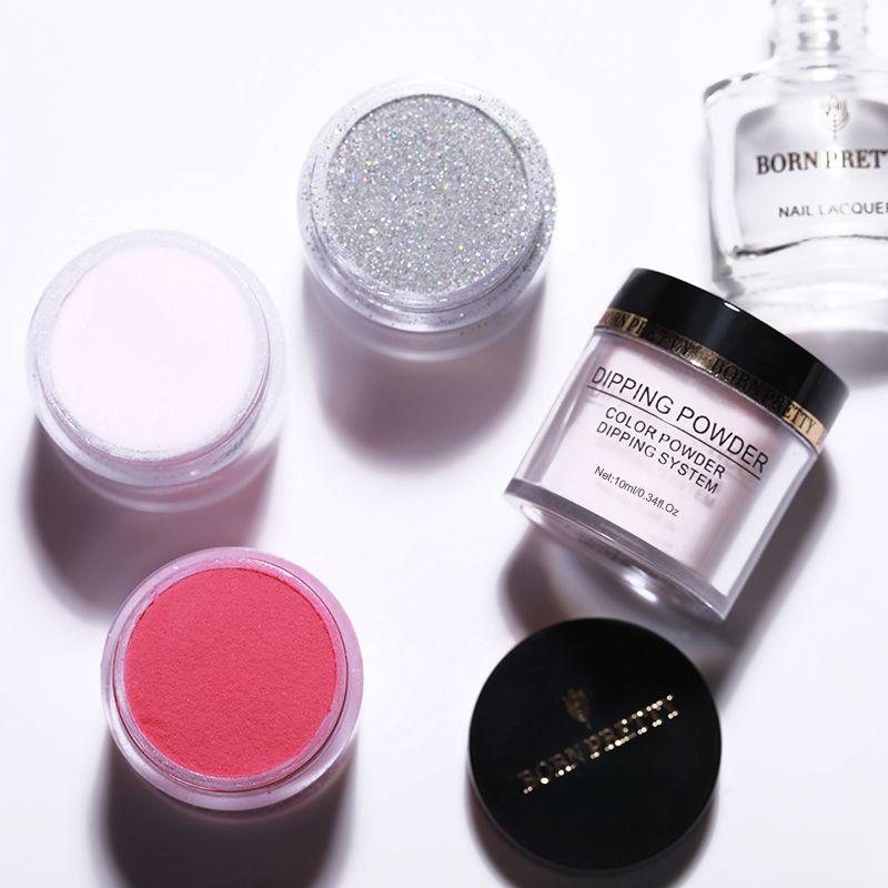 2X-BORN-PRETTY-Dipping-Powder-Gradient-French-Nail-Natural-Color-Holographi-V2D3 thumbnail 8